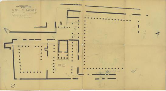 """<bdi class=""""metadata-value"""">PalmyreTadmor, sanctuaire de Baalshamîn. Plan des inscriptions trouvées en octobre 1956</bdi>"""