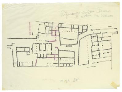 """<bdi class=""""metadata-value"""">PalmyreTadmor, sanctuaire de Baalshamîn. Plan des remaniements ultuérieures au VIe siècle</bdi>"""
